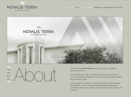 Ιστοσελίδα Novalis terra - Εταιρία (company)