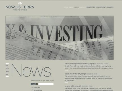 Website Novalis terra - News