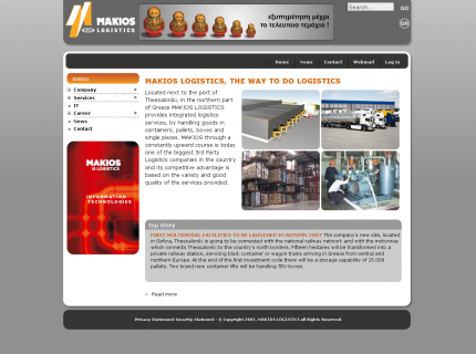 Website Makios Logistics - Home