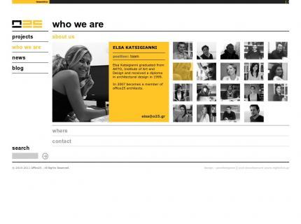 Ιστοσελίδα Office 25 Architects v2 - Εταιρία (company)