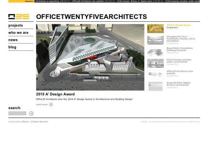 Ιστοσελίδα Office 25 Architects v2 - Αρχική (Home)