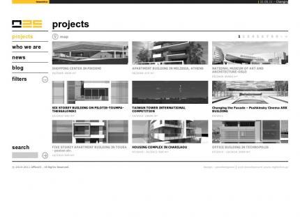 Ιστοσελίδα Office 25 Architects v2 - Έργα (projects)