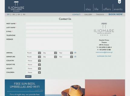 Hotel Iliomare - Contact